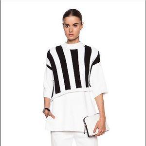 3.1 Phillip Lim Asymmetrical Stripe Sweater